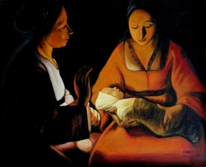 Nativity after Georges de La Tour - imaginart