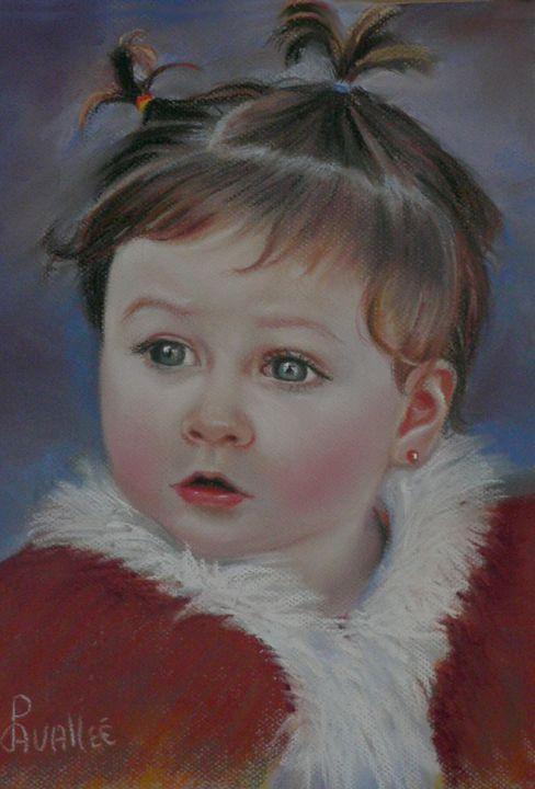 Example baby's portrait pastel - imaginart