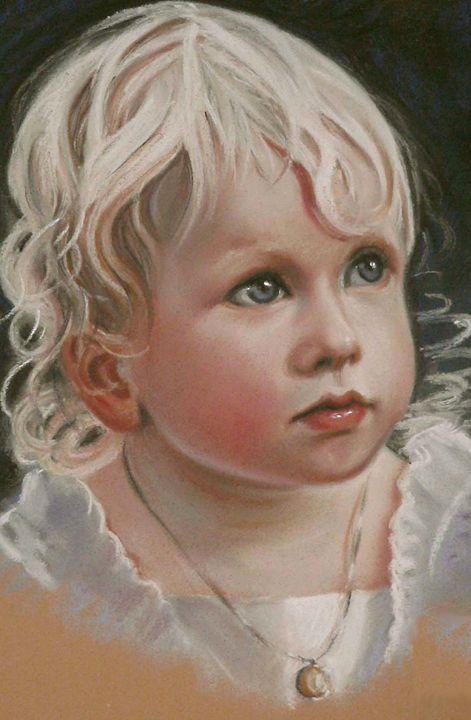 Portrait of a blond child - imaginart