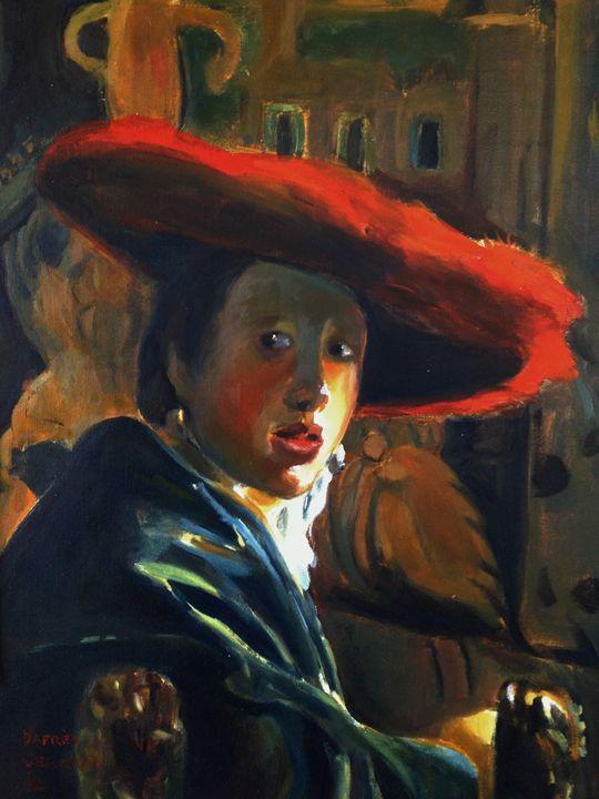 Original oil after Vermeer 2 - imaginart