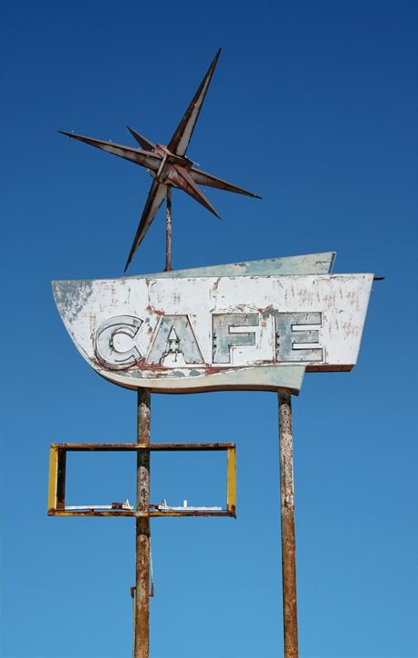Antique Cafe Sign - Unseen Gallery Prints