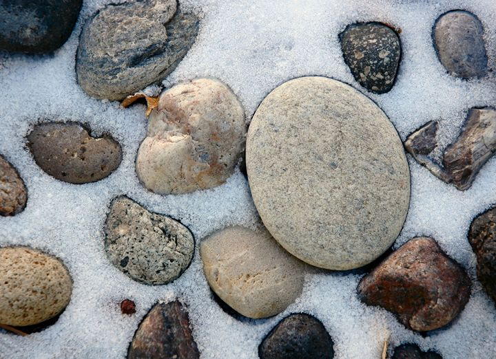 Snow and stones - Unseen Gallery Prints