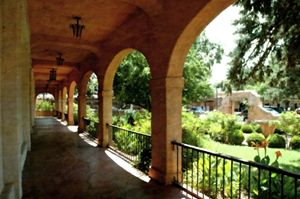 Southwestern convent walkway