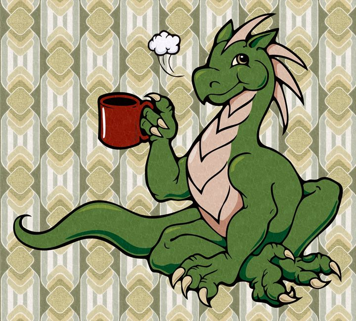 Coffee Dragon - Unseen Gallery Prints