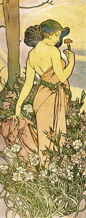 Carnation Maiden - Unseen Gallery Prints