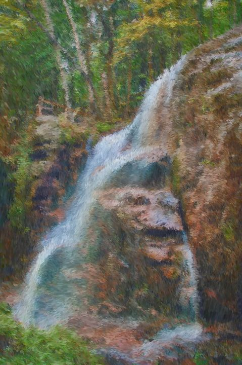 Painterly Liberty Falls - Unseen Gallery Prints