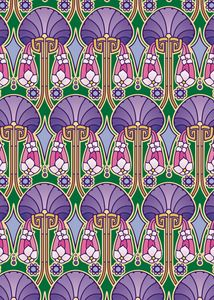 art nouveau abstract, purple