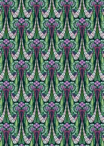Decorative pattern of floral swags