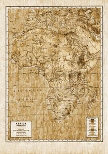 Vintage physical map of Africa