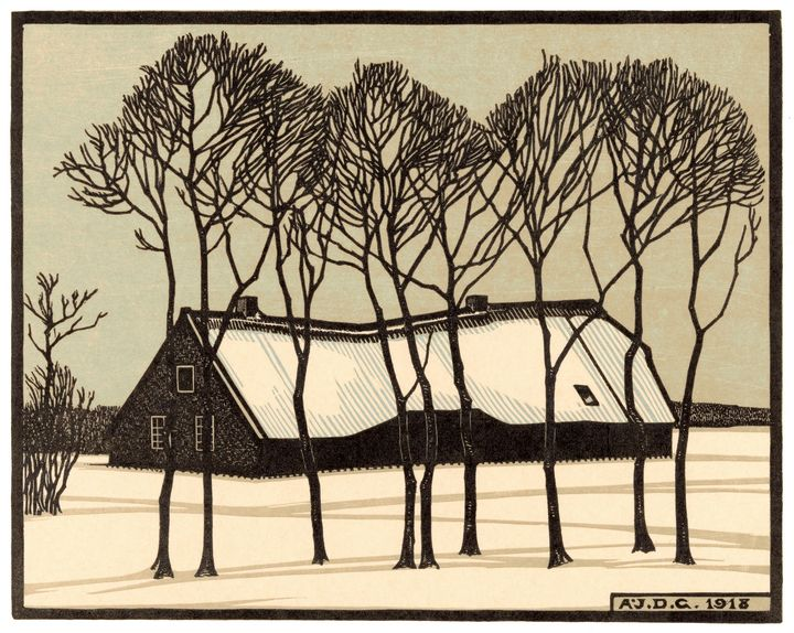 Farm in the Snow - Unseen Gallery Prints