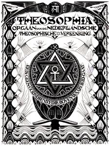 Theosophy text, art nouveau cover