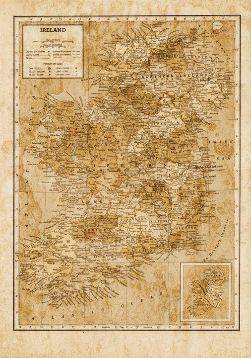 Antique Ireland in sepia tones - Unseen Gallery Prints