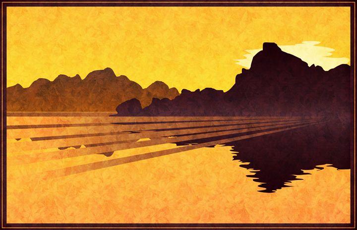 Sunset Lake - Unseen Gallery Prints
