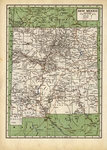 Vintage map of New Mexico