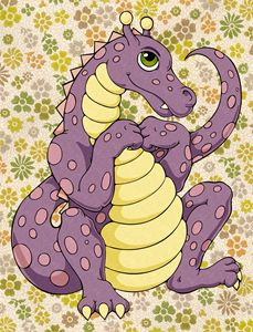 Coloring Book Dragon