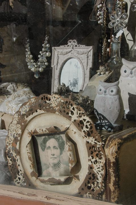 Antiques in a shop window - Unseen Gallery Prints