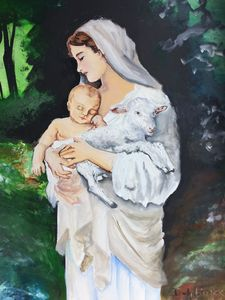 Mary with the Lamb of God