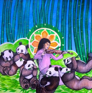 Quan Yin and the Six Panda Saints
