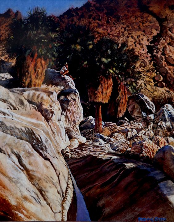 Becky in tthe Blue Palms Canyon - Steve Brumme