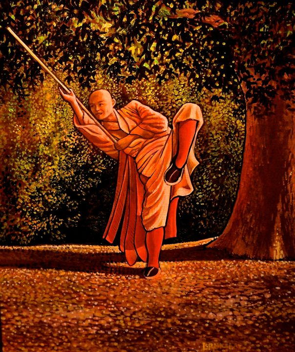 Fall: Shaolin Practicing Staff - Steve Brumme