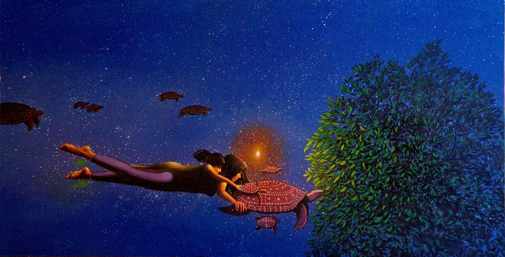 Madonna and Child with Night Turtles - Steve Brumme