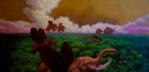 Madonna and Child Greet Elephants - Steve Brumme