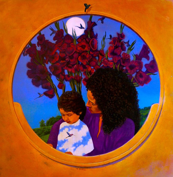 Madonna and Child with Humming Birds - Steve Brumme
