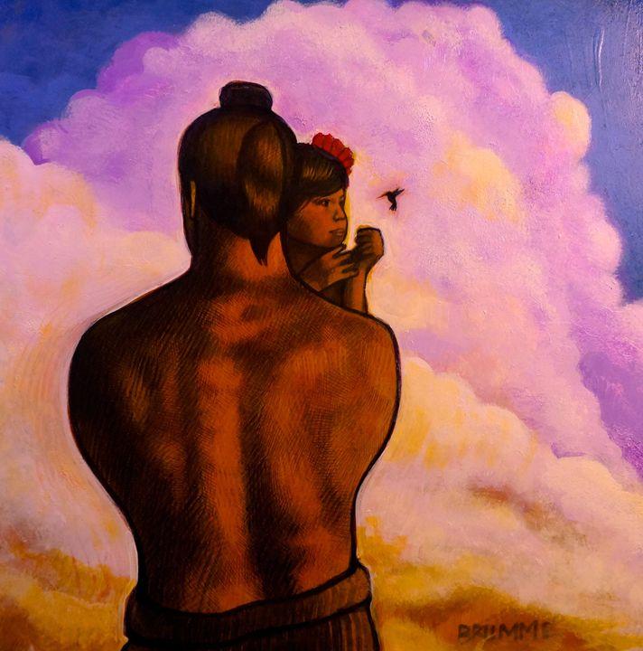 Hawaiian Father and Child - Steve Brumme