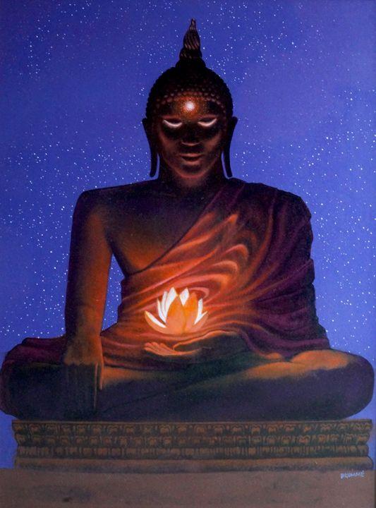Buddha Under a Starry Night - Steve Brumme
