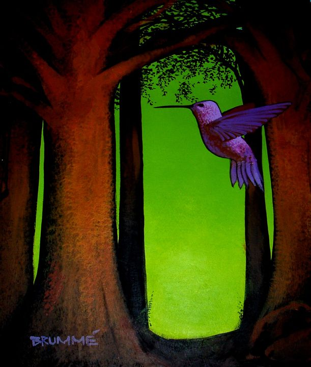 The Purple Belly Humming Bird - Steve Brumme