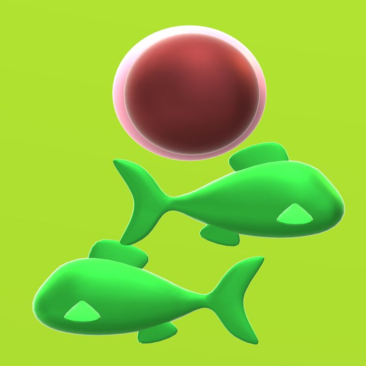 Green fishes couple with a mission - newlinearts