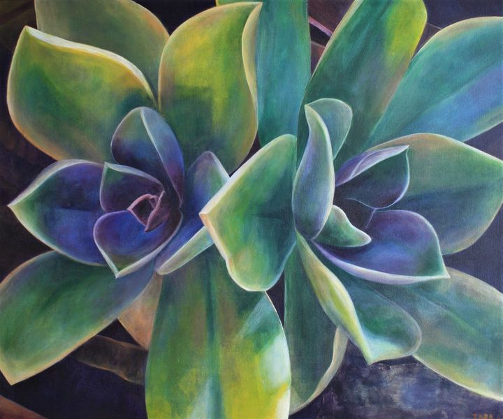 Purple and Green - Tara Esperanza Art