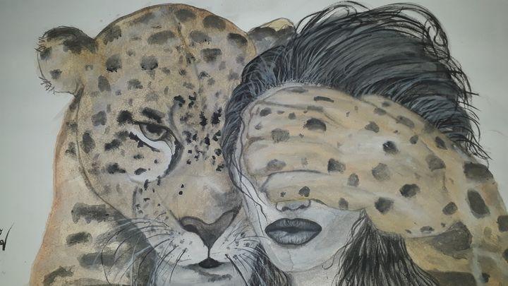 Watercolour art of relation A3 size - Art by vaishnavi