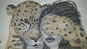 Watercolour art of relation A3 size