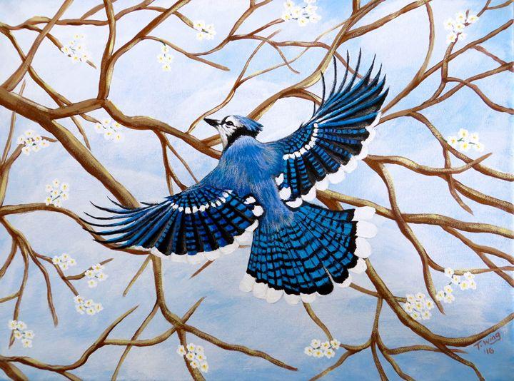 Soaring Blue Jay - Teresa Wing