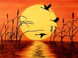 Sunset Geese - Teresa Wing