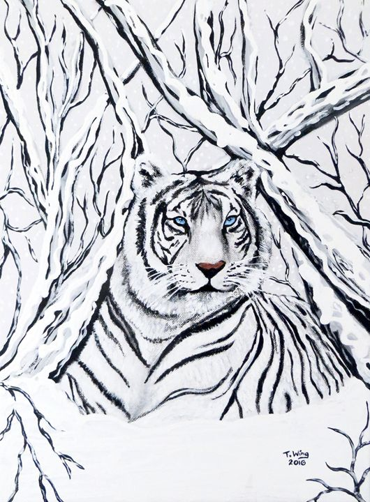 White Tiger Blending In - Teresa Wing