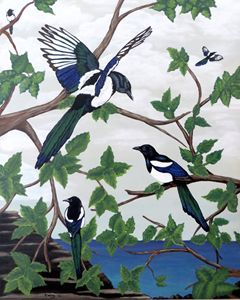 Black Billed Magpies