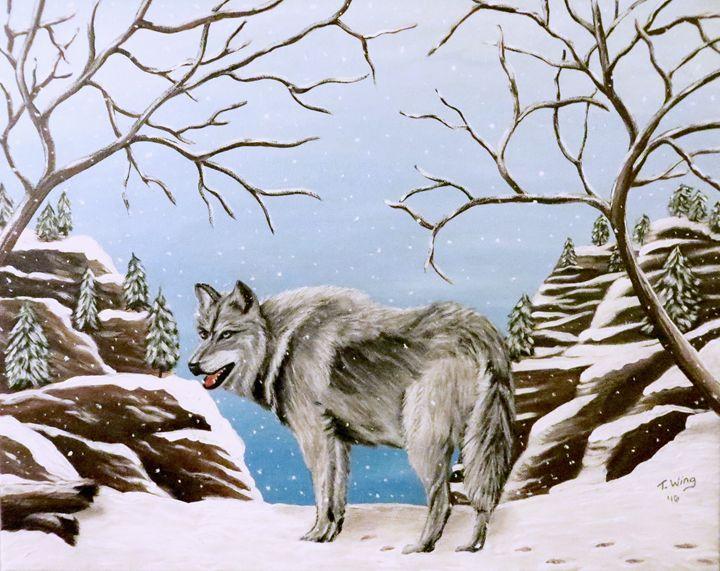 Wolf in Winter - Teresa Wing