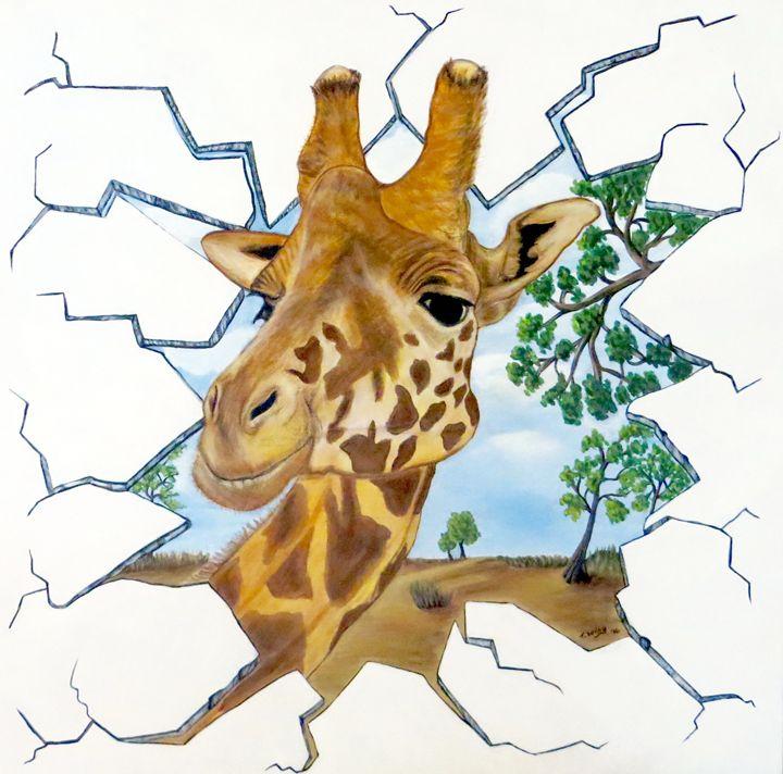 Gazing Giraffe - Teresa Wing