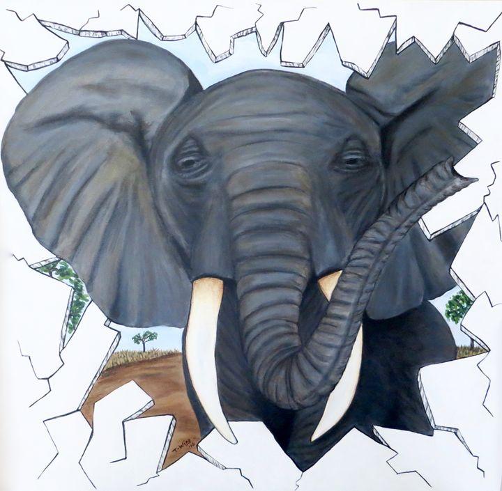 Eavesdropping Elephant - Teresa Wing