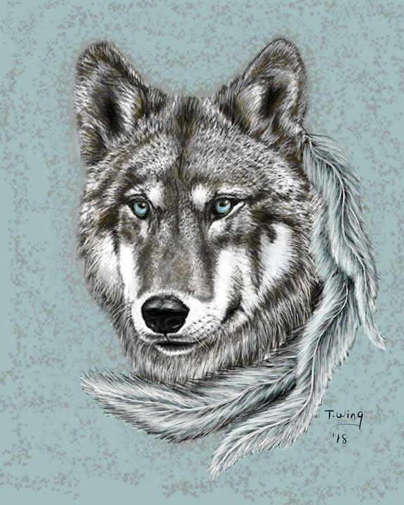 Grey Wolf - Teresa Wing