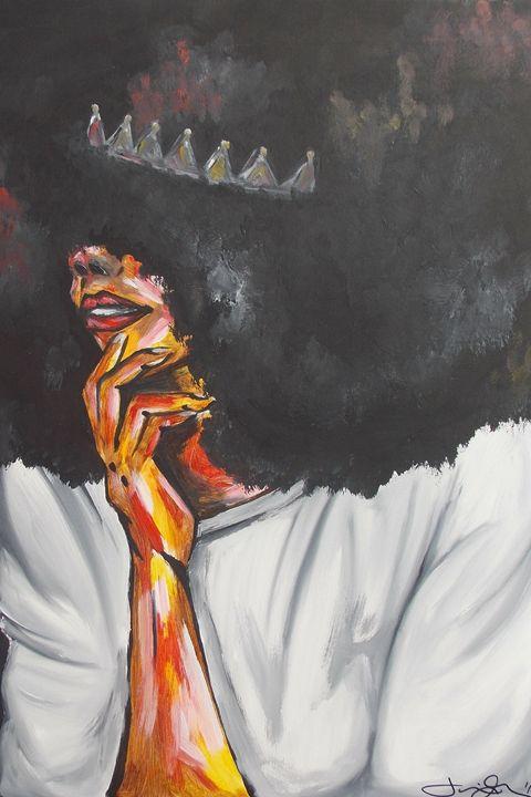White T - Hippie Queen Artwork