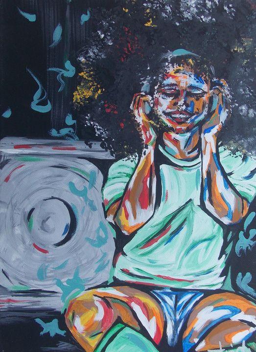 Mini Painting - Music - Hippie Queen Artwork
