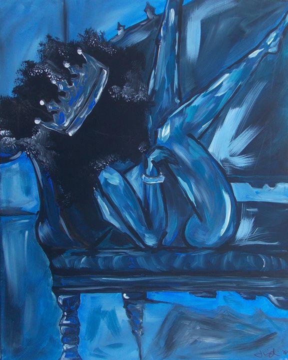 Blue Queen - Hippie Queen Artwork