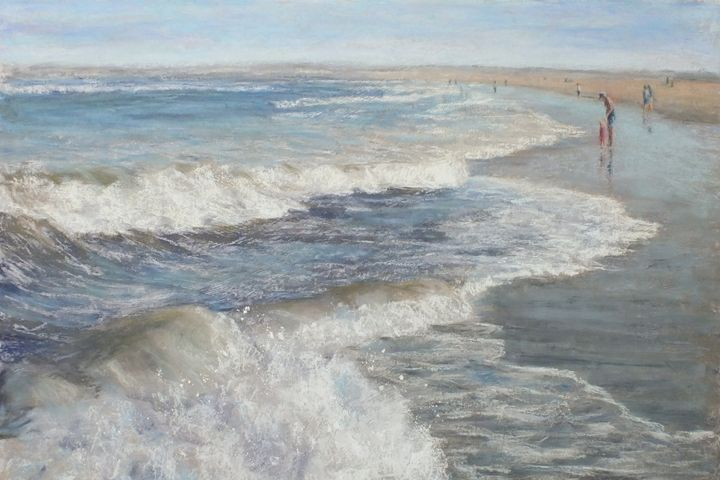 Beach Day - Linee Pastels Fine Art
