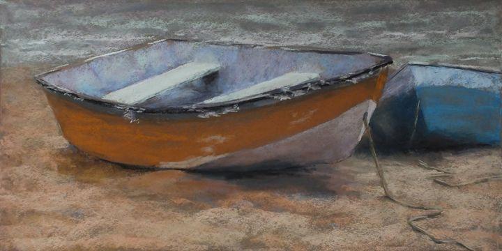 Stage Harbor Dinghies - Linee Pastels Fine Art