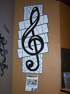 Mosaic Treble Clef Wall Hanging