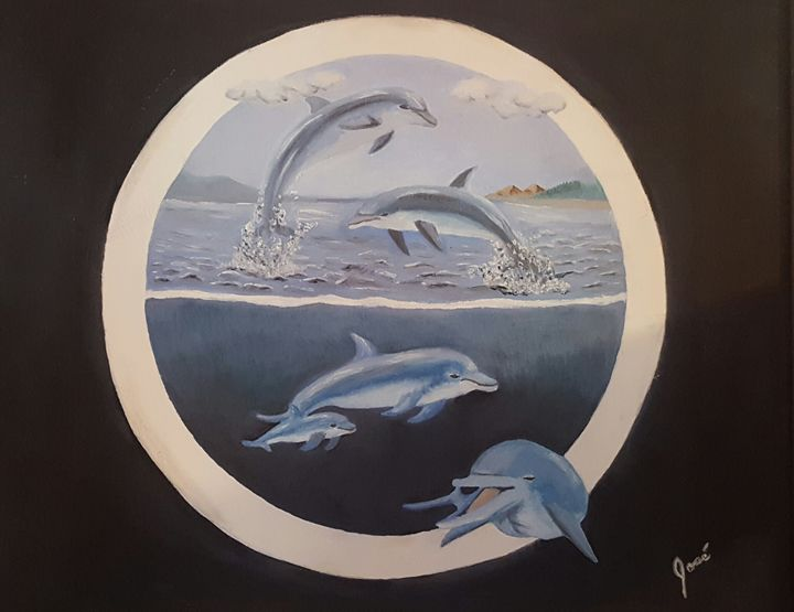The Dolphins - original sold - Jose Torres