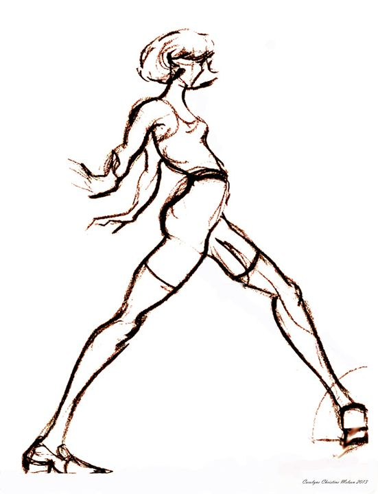 Jazz Dance - My Naenia Art by Carolyne Christine